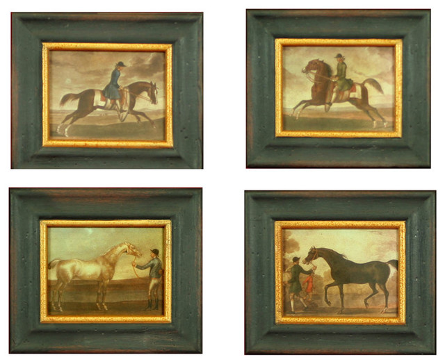 H. Hal Kramer Co. Vintage Equestrian Reproductions, Set of 4 contemporary-picture-frames