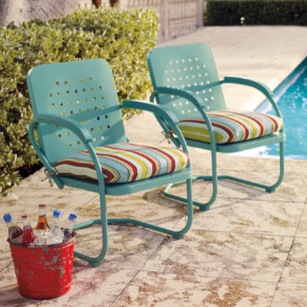Retro Outdoor Furniture Collection - Eclectic - Patio Furniture And ...