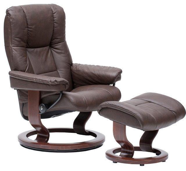 Stressless Medium Mayfair Chair and Ottoman, Paloma ...