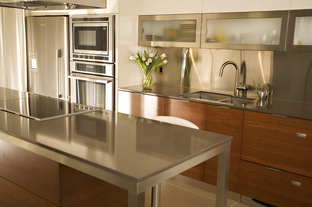 Seifer countertop ideas contemporary kitchen countertops new york by seifer kitchen - Kitchen countertops ideas ...