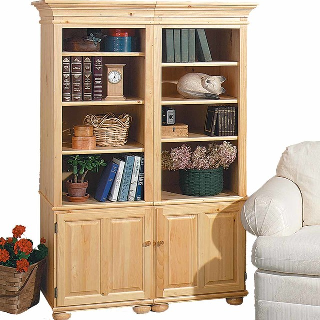 "Bookcases UnFinished Pine Wentworth Bookcase Kit 65"" H 