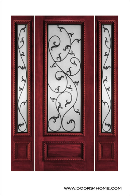 Ir iron insulated entry doors model 734 mediterranean for Insulated entry door