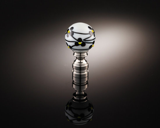 Lamp Finial Collection TLF009 - Handmade glass lamp finial