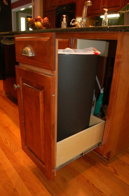 pull out trash bin louisville by shelfgenie of kentucky. Black Bedroom Furniture Sets. Home Design Ideas