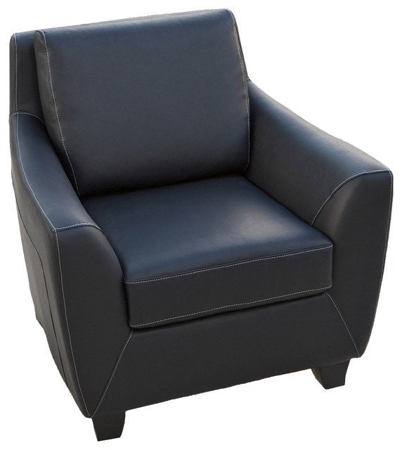 barker black leather modern club chair contemporary armchairs by
