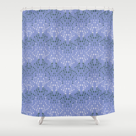 Isabella periwinkle blue shower curtain contemporary for Periwinkle bathroom ideas
