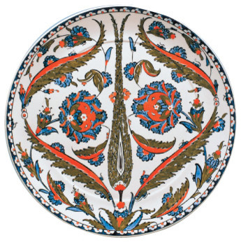 Handmade Ottoman Turkish Iznik Chini Bowls and Plates traditional-artwork