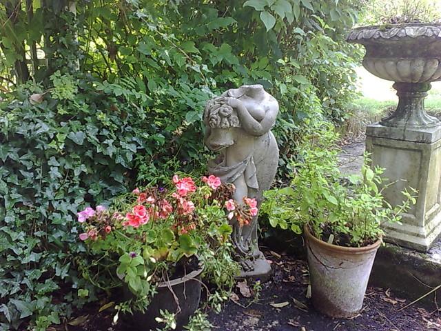 A quiet corner in the garden traditional-landscape
