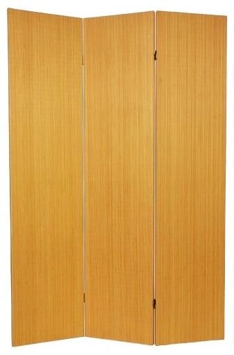 Frameless Bamboo Honey Room Divider contemporary-screens-and-room-dividers