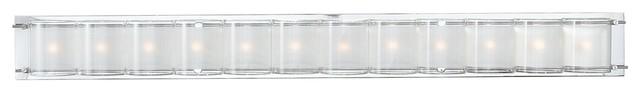 "Possini Euro Design Glass Bands 45"" Wide Bath Light contemporary-bathroom-lighting-and-vanity-lighting"