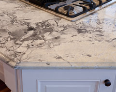 Super White Quartzite modern kitchen countertops