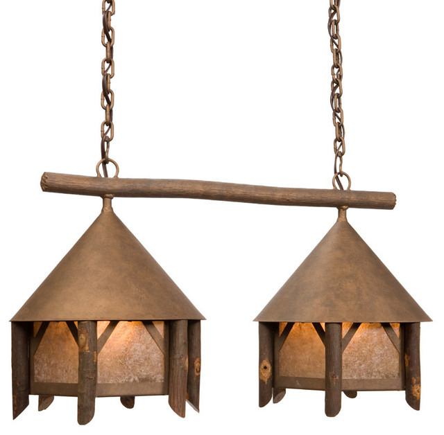 Anacosti light campromise double rustic ceiling for Houzz rustic lighting