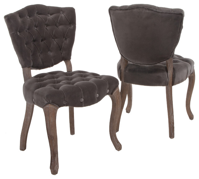 French design velvet dining chair set of 2 traditional dining chairs