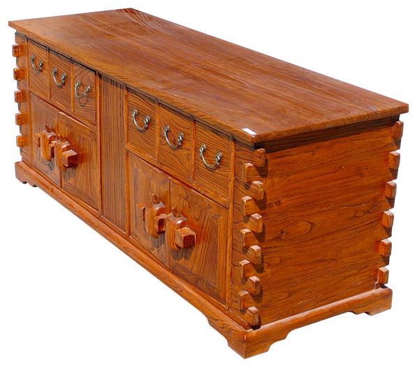 Chinese Rustic Look Lower TV Stand Table Cabinet - Eclectic - Side Tables And End Tables - san ...