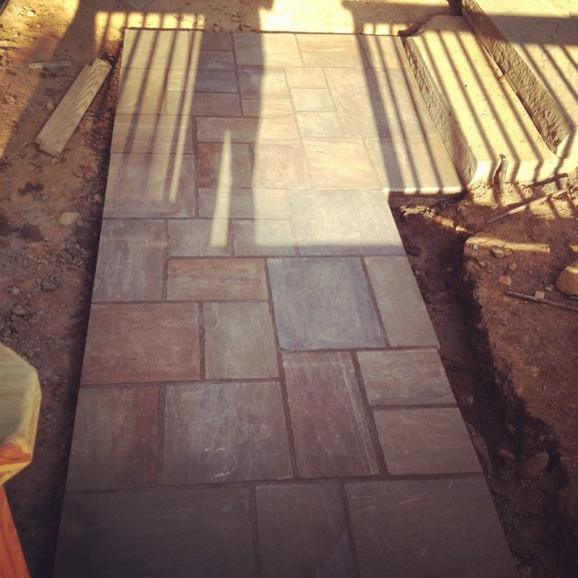 natural bluestone patio's and bluestone walkway and steps traditional