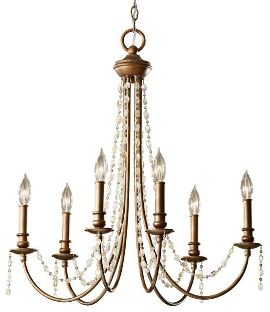 Crystal Feiss Aura 27 Wide Rustic Silver Chandelier Farmhouse Chand