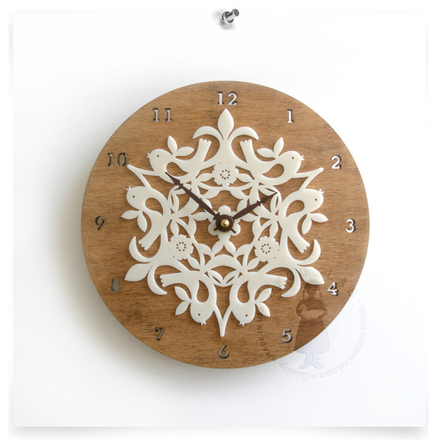 Birdies Clock, Large contemporary clocks