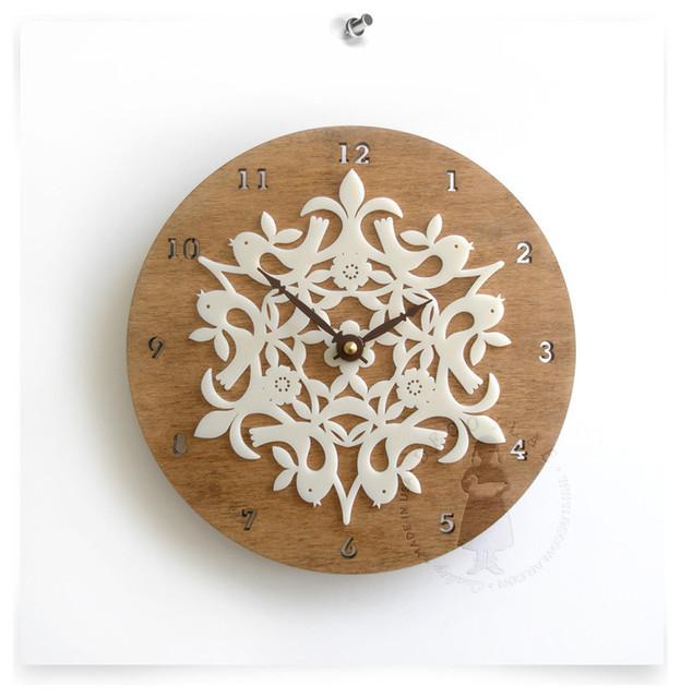 Birdies Clock, Large contemporary-clocks