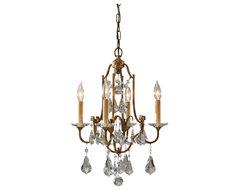 Feiss F2480/4OBZ Valentina Bronze 4 Light Mini Chandelier traditional-chandeliers