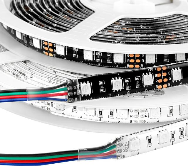 Color Changing RGB Weatherproof Flexible Light Strip (5 meters) - Undercabinet Lighting - st ...