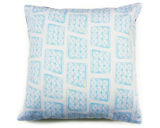 Blue Pha Pha Cushion -
