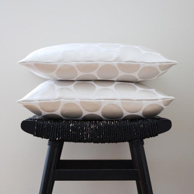 White on White Dot Pillow Cover contemporary-decorative-pillows