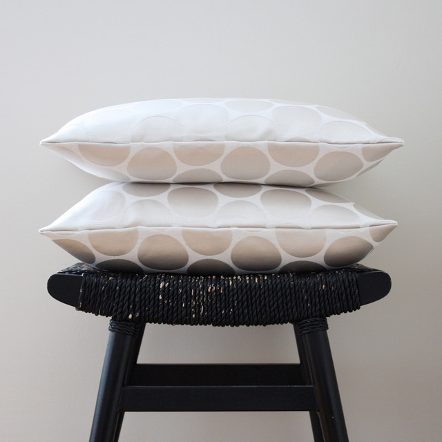 White on White Dot Pillow Cover contemporary pillows