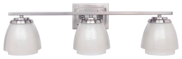 Craftmade 14628BNK3 3-Light Vanity Fixture transitional-bathroom-vanity-lighting