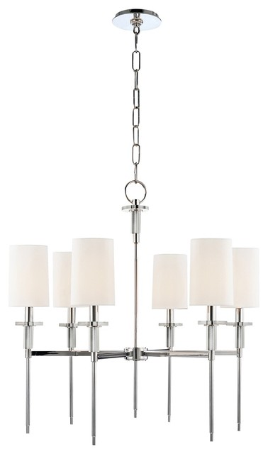 """Hudson Valley Amherst 25"""" Wide Polished Nickel Chandelier contemporary-chandeliers"""