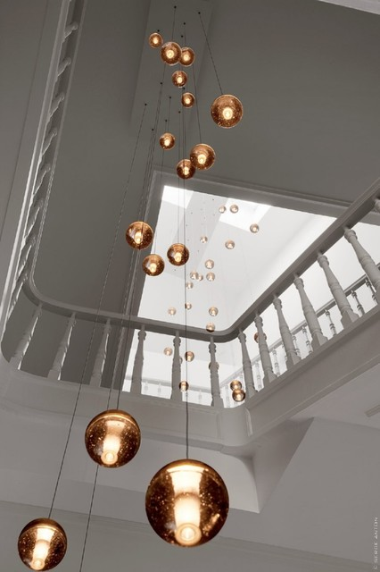 Bocci 14 Custom In Stairwell Contemporary Chandeliers