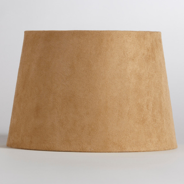 natural suede accent lamp shade contemporary table. Black Bedroom Furniture Sets. Home Design Ideas