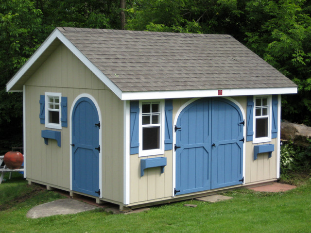 Garden shed traditional sheds other metro by wood for Traditional garden buildings