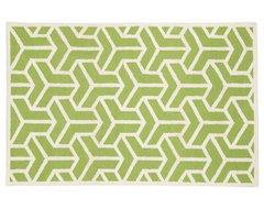 Crow's Feet Rug, Green modern-kids-rugs