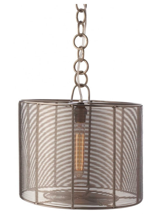 Steel Wrapped Wire Drum Lamp -