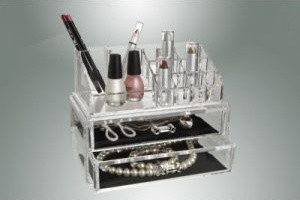 Kennedy Home Collections Acrylic Cosmetic Organizer with Two Drawers contemporary-bathroom-accessories