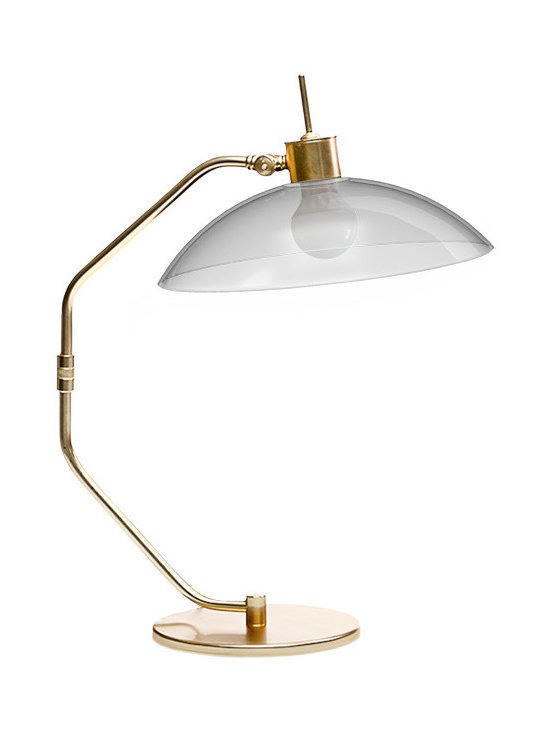 CreativeMary - Noho Table Lamp - NoHo Table Lamp features Blown Glass with a Gold finish. One 40 watt, 120 volt A19 type Medium base incandescent bulb is required, but not included. 21.7 inch width x 15.7 inch height.