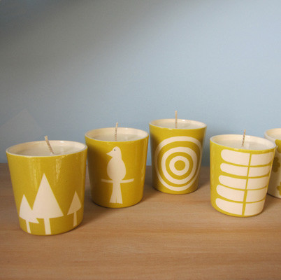 Perch! - Chartreuse Soy Candle modern-candles-and-candleholders