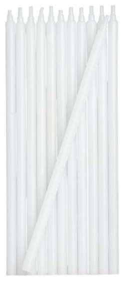 Set of 12 White Party Candles traditional-candles