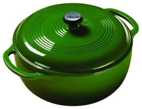 Lodge Color Dutch Oven, Emerald Green contemporary-dutch-ovens-and-casseroles