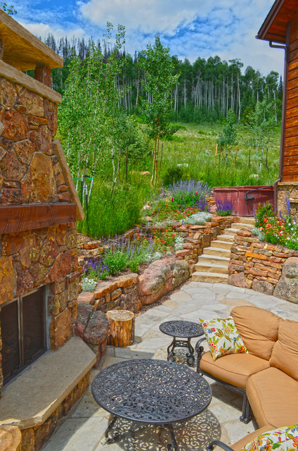 Mountain Home Landscape In Silverthorne CO Rustic