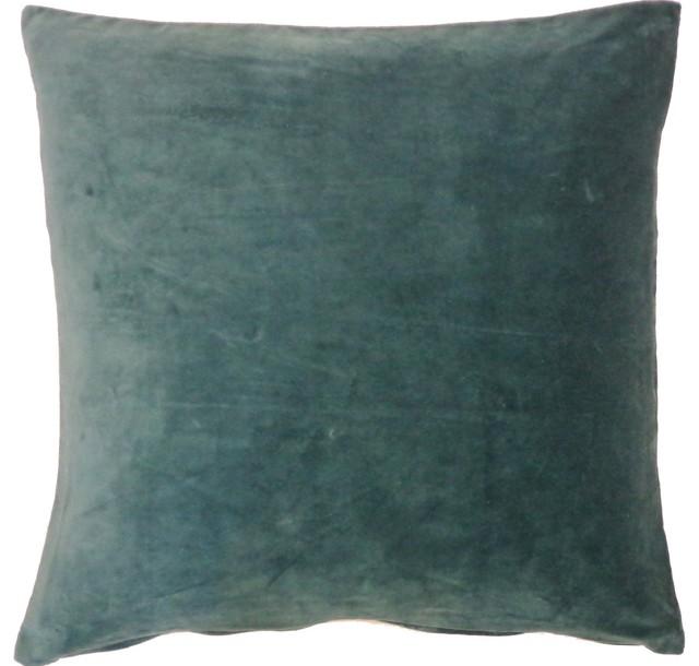 Jade Velvet Pillow contemporary-decorative-pillows