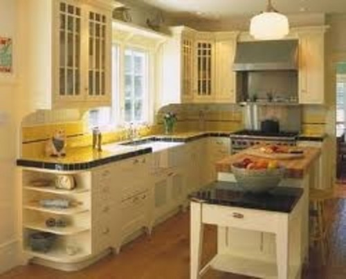 lemon yellow because the yellow is so strong on the countertops you