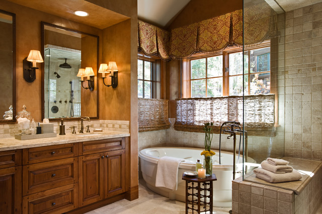 Deer valley retreat traditional bathroom orange for Traditional master bathroom design ideas