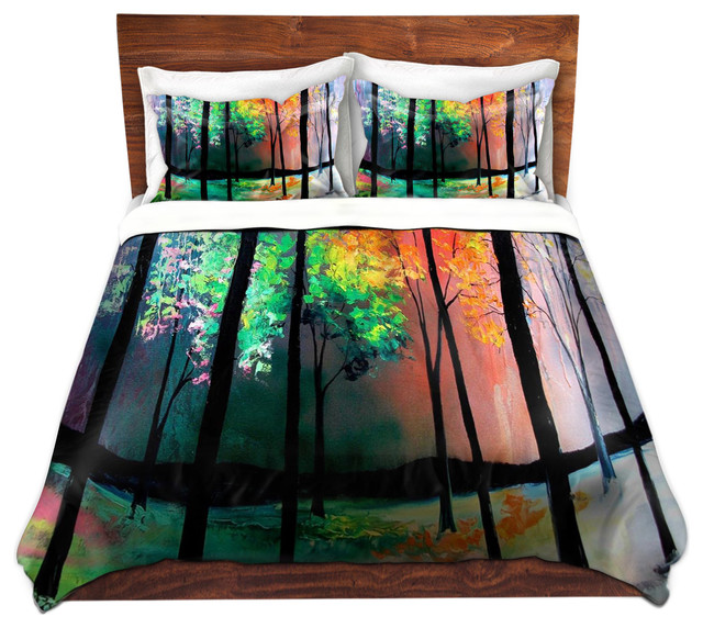 Duvet Cover Twill - The Four Seasons contemporary-duvet-covers