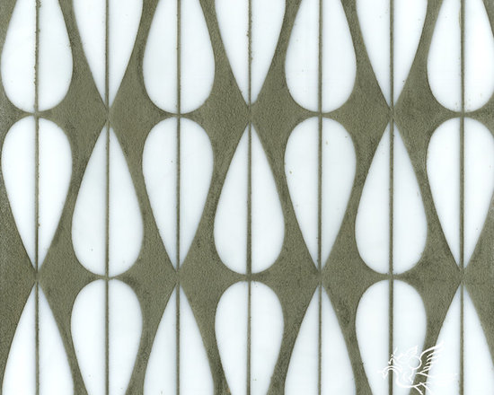 Erin Adams - Mod Drops - Mod Drops, a glass waterjet mosaic shown in Moonstone, is part of the Erin Adams Collection for New Ravenna Mosaics.