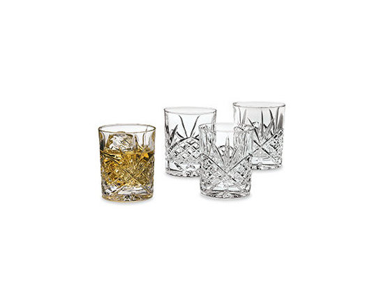 Crystal Pineapple Double Old-Fashioned Glasses, Set of 4 -