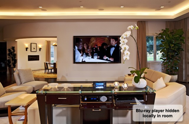Hidden audio video installations contemporary living room other metro by via los angeles - Secret keys contemporary living room design ...
