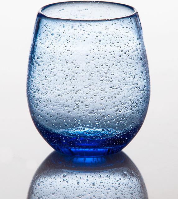 Stemless Wine Glass Light Blue Transitional Wine