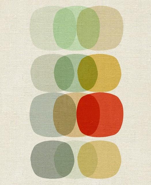 Keep It Simple Circle - Art Reproduction Giclee Print modern-artwork