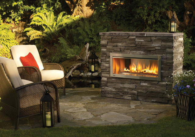 Regency horizon hzo42 modern outdoor gas fireplace contemporary outdoor fireplaces by - Build contemporary fireplace ideas ...